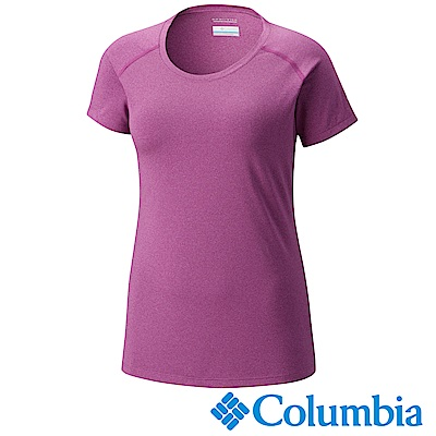 Columbia 哥倫比亞 女款-防曬50快排短袖上衣-紫色UAK16560PL