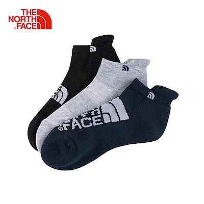 The North Face北面黑色舒適透氣通用低筒襪3入組 3RJC8LR