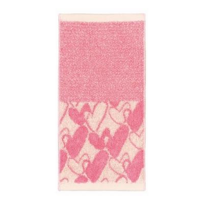 日本派迪 今治吸水速乾長方巾-粉色愛心