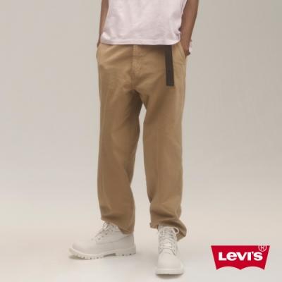 Levis 男款 Stay Loose Chino復古寬鬆版繭型卡奇休閒褲 磨損細節 超彈力布料 及踝款