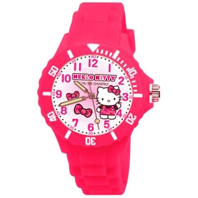 Sanrio三麗鷗二代中型運動彩帶錶34mm-Hello Kitty 兩色任選
