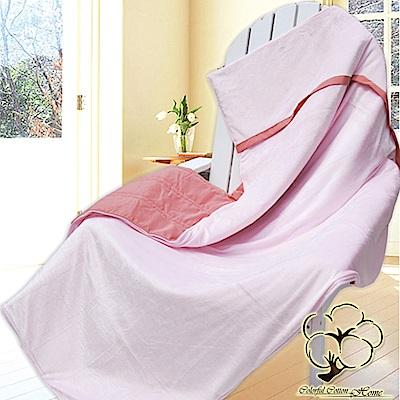 采棉居寢飾文化館 銀離子抗菌雲絲多用途毯被(粉色)