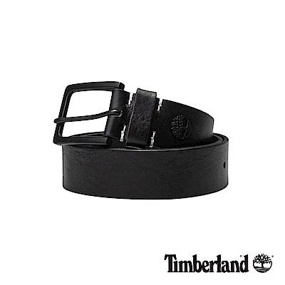 Timberland 中性黑色40mm皮帶|A1DQT