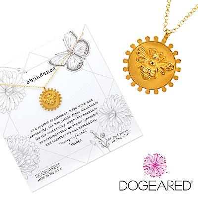 Dogeared Abundance Bee 女王蜂幸運錢幣項鍊 金色 美麗富足智慧