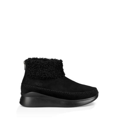 UGG短靴 Montrose 潮流皮革毛邊運動鞋 休閒短靴