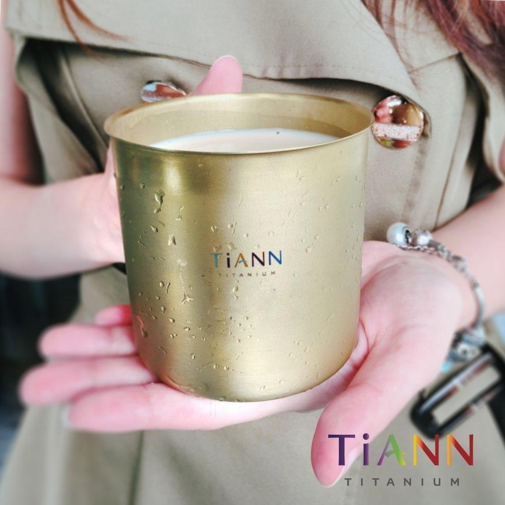 TiANN 鈦安純鈦餐具 太陽純鈦 輕巧杯 350ml(快)