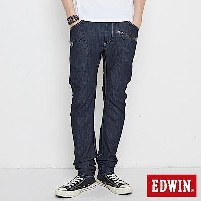 EDWIN E-F 機能多袋3D窄直筒牛仔褲-男-原藍色