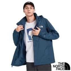 The North Face 男  3效能_防水透氣防風耐磨連帽外套_都會藍 N