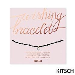 KITSCH 美國加州時尚品牌 許願閃耀方晶鋯石手鍊