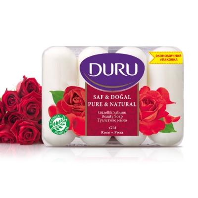 土耳其DURU 玫瑰植粹保濕香皂85g(4入/組)