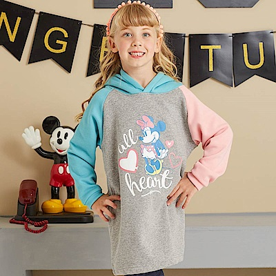 Disney 米妮系列甜心米妮刷毛連帽洋裝(共2色)