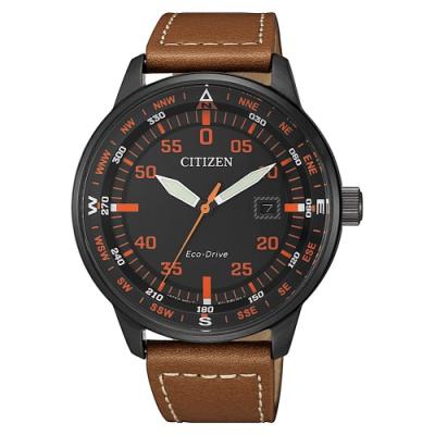 CITIZEN 星辰GENTS 限量光動能小牛皮腕錶-42mm(BM7395-11E)