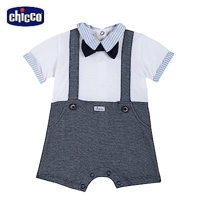 chicco-玩具車-假兩件短袖兔裝
