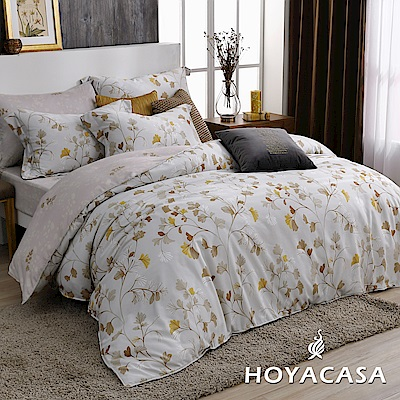HOYACASA洛希亞 雙人四件式天絲柔棉兩用被床包組