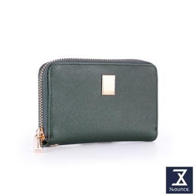 74盎司 Cross Lady 十字紋防刮手掛零錢包[LN-759-CR-W]綠