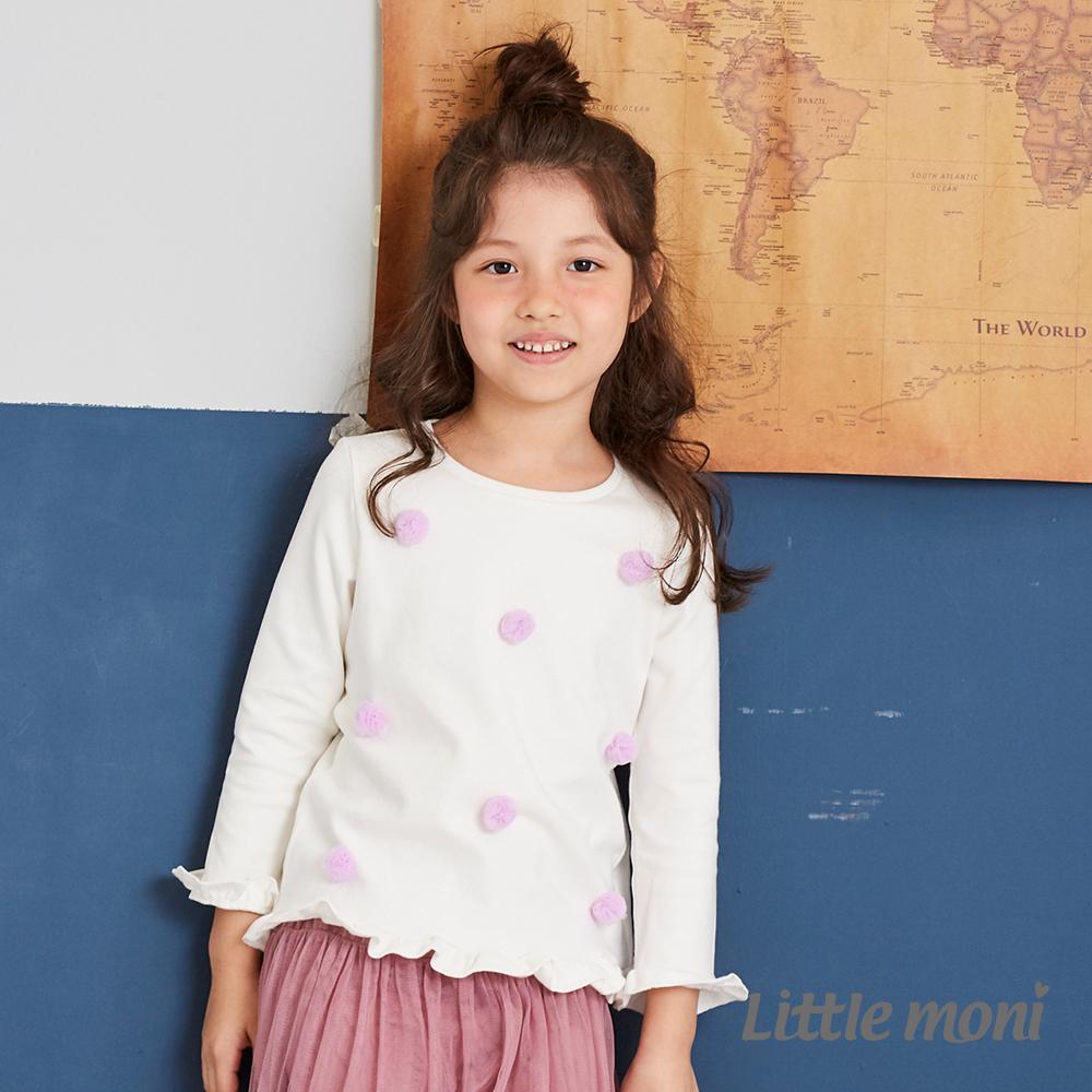 Little moni 立體花朵上衣(兩色可選)