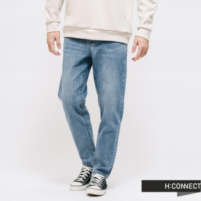 H:CONNECT 韓國品牌 男裝 -後鬆緊率性牛仔褲 - 藍