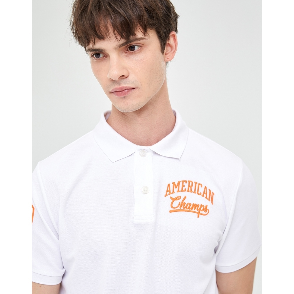 CACO-立體電繡POLO衫(二色)-男【WAR033】