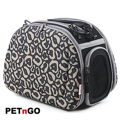 PETnGO 輕巧摺疊寵物提包(透氣網布)-豹紋