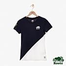 ROOTS 女裝- 周年系列色塊短袖T恤-白色