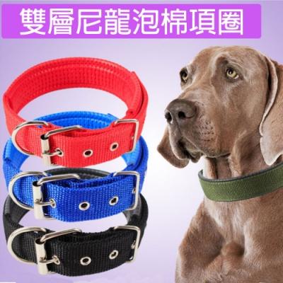 【寵愛有家】軟尼龍泡棉寵物大型犬項圈(寵物外出用品)