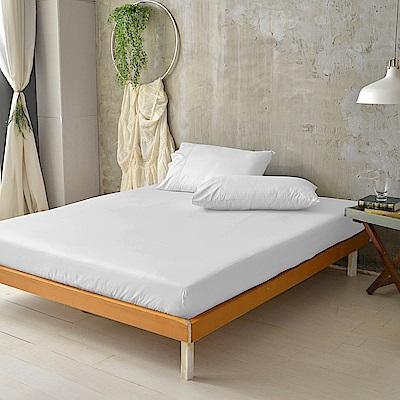 澳洲Simple Living 特大300織台灣製純棉床包枕套組(優雅白)