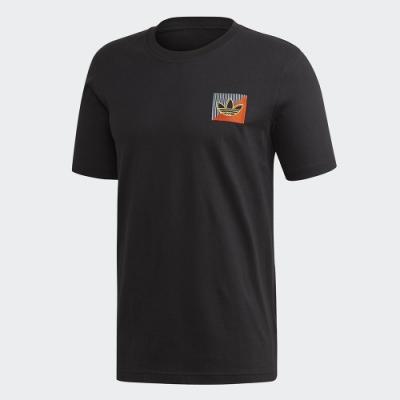 ADIDAS 休閒 運動 短袖 上衣 男款 黑 FM3400 Diagonal Embroidered
