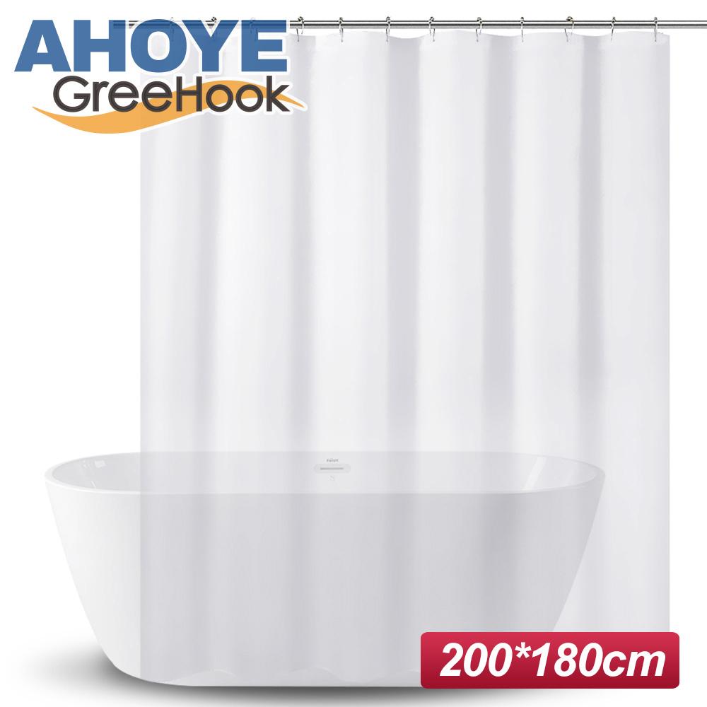 GreeHook PEVA加厚防水浴簾 180*200cm -透明