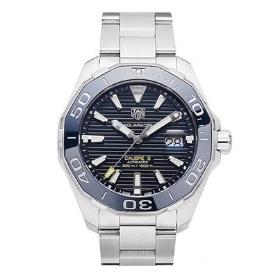 TAG HEUER 豪雅 AQUARACER 經典機械錶-藍/43mm