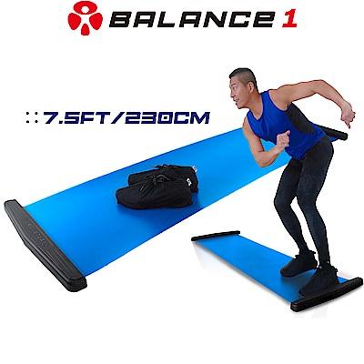 BALANCE1 橫向核心肌群訓練滑步器 豪華版230cm 藍色