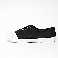 【AIRKOREA韓國空運】文青款帆布懶人休閒鞋-黑