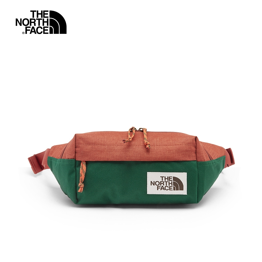 The North Face北面男女款復古紅綠拼接輕巧休閒腰包|3KY6F7Z