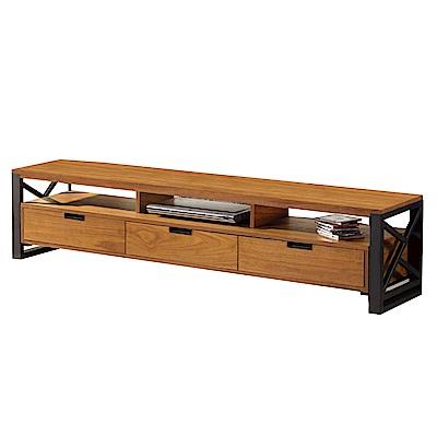 文創集 艾文時尚6尺木紋電視櫃/視聽櫃-180x40x42cm免組