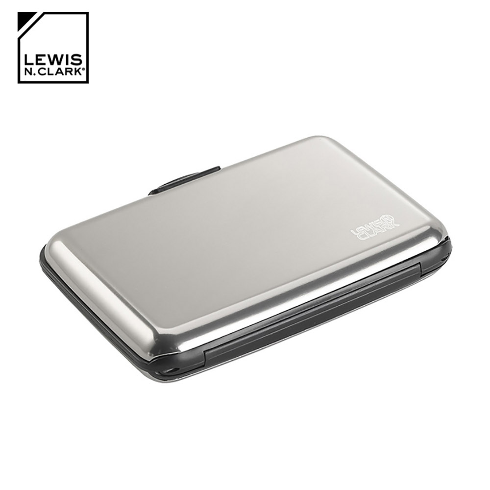 Lewis N. Clark RFID屏蔽鋁製卡片盒 1201 / 銀色
