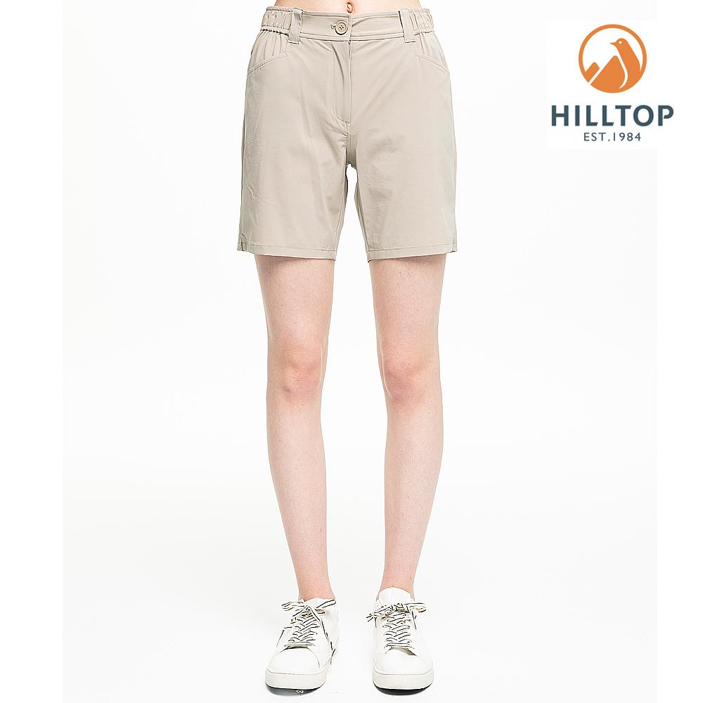 【hilltop山頂鳥】女款超潑水彈性抗UV短褲S09F67亮卡