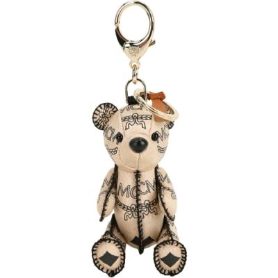 MCM Visetos Zoo Bear 小熊造型吊飾鑰匙圈(米色)