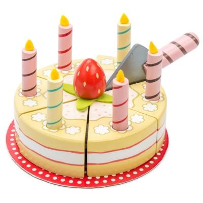 英國 Le Toy Van 角色扮演系列-香草生日蛋糕玩具組