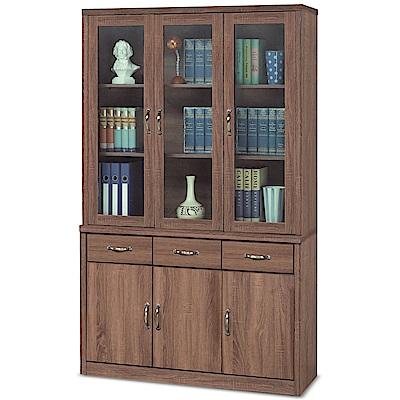 凱曼  埃西亞柚木色4尺書櫥/書櫃組