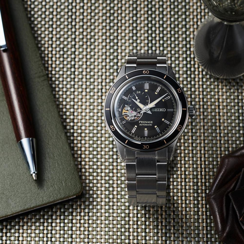 SEIKO精工 Presage Style60's系列機械錶-40.8mm (SSA425J1/4R39-00Z0D)