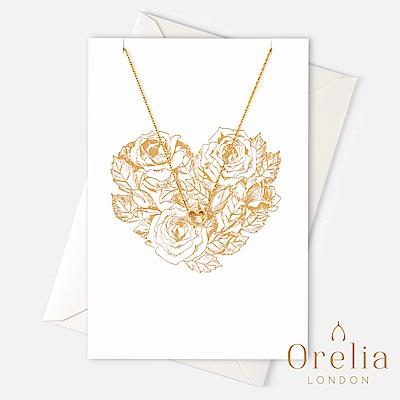 Orelia 英國倫敦 極簡愛心鍍金墜飾項鍊 (附禮品卡)