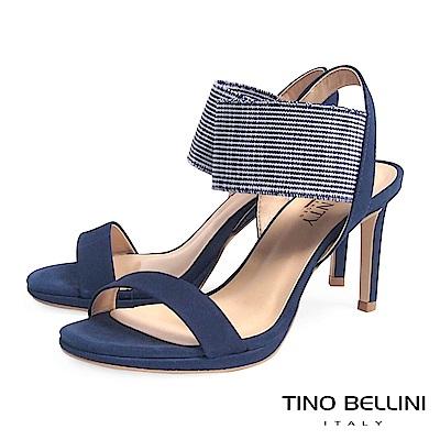 Tino Bellini 巴西進口異元素細緻高跟涼鞋 _ 藍