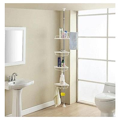 媽媽咪呀 頂天立地不鏽鋼免鑽孔四層置物架/浴室收納架(置物架)