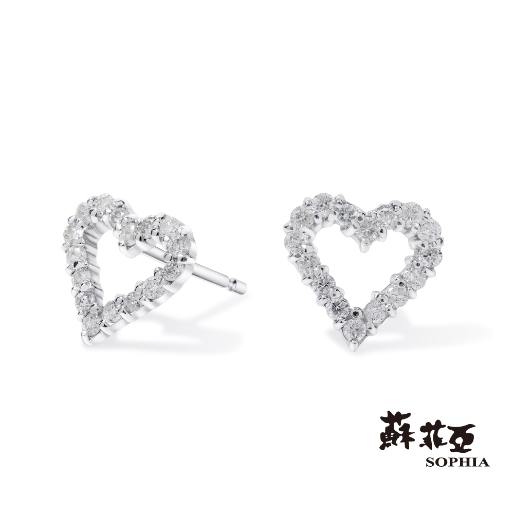 蘇菲亞SOPHIA - 輕珠寶系列經典愛心0.20克拉鑽石耳環