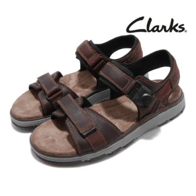 Clarks 涼拖鞋 Un Trek Part 真皮 男鞋