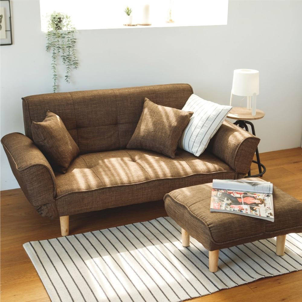 完美主義 現代簡約風格雙人沙發+椅凳/沙發床/2人座(5色)