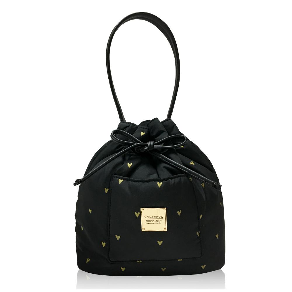 VOVAROVA空氣包-口袋水桶包-心空閃耀(黑)