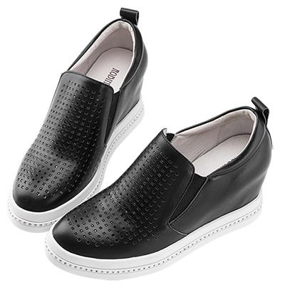 Robinlo & Co.神秘感黑鑽內增高休閒鞋 黑