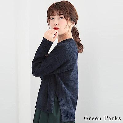 Green Parks 側面羅紋圓領針織上衣