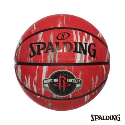 SPALDING 斯伯丁 NBA 隊徽球 大理石印花系列-火箭 RUBBER 籃球 7號