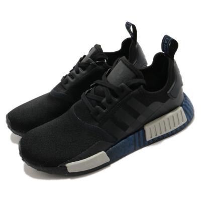 adidas 休閒鞋 NMD R1 襪套式 男鞋 海外限定 愛迪達 三葉草 Boost 黑 藍 FV3652